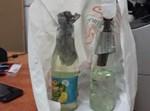 בקבוקי התבערה שנמצא אצל החשודים