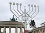החנוכיה שהוצבה בחוצות ברלין