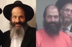רובשקין בכניסתו לכלא עם מדי אסיר ולאחר השחרור