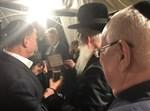 הרב גרוסמן ולצדו נשיא המדינה בחתונת בן השר