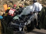 תאונה חזיתית בכביש 60