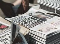 ערמת עיתונים להפצה