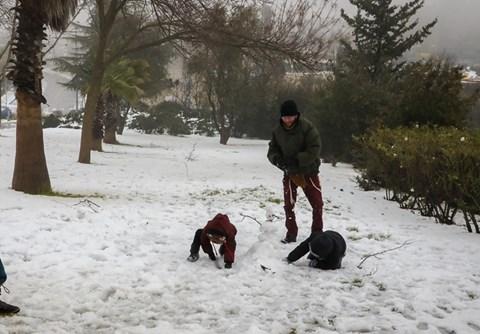 שלג ביישוב אפרת