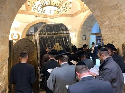 התפילות שנערכו בקבר רחל