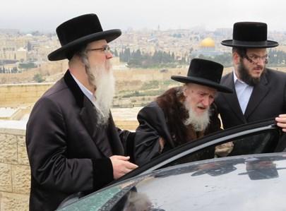 """הרבי מקאליש זצ""""ל בביקורו האחרון בישראל"""