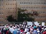 שביתה מול משרד האוצר. צילום: יונתן זינדל, פלאש 90