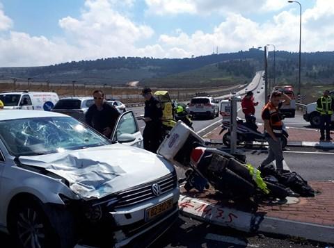 תאונת אופנוע סמוך לצומת גבעון מערב