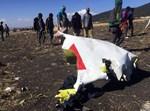 חלק מהמטוס שהתרסק באתיופיה