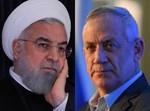 בני גנץ/נשיא איראן חסאן רוחאני