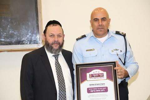 ראש העיר ובכירי המשטרה בסיור