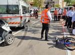 ילדה רוכב אופניים נפצעה אנושות באלעד
