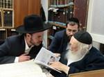 גדולי ישראל מקבלים את הספר החדש סולם יעקב