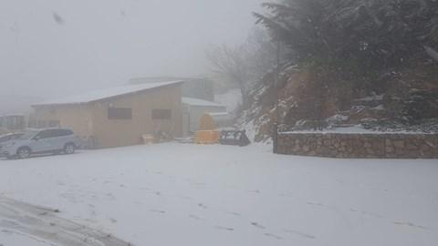 השלג בחרמון, הבוקר