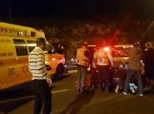 זירת התאונה בשכונת רמות