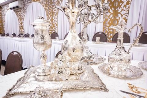 שולחן הסדר של הרבי מסאטמר