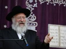 הרב חיים יצחק אייזיק לנדא בשיעור בצפת