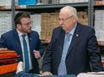 משה טייטלבוים עם נשיא המדינה