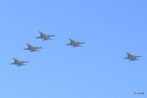 מטס חיל האוויר מעל תל אביב