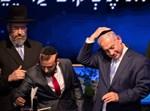 נתניהו עם כיפתו של הרב דוד לאו