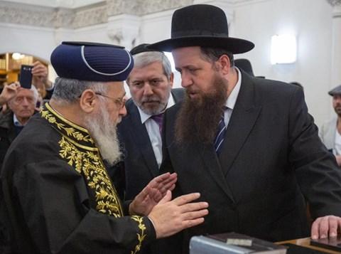 """הראשל""""צ בבית הכנסת המרכזי בית משה"""