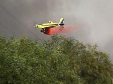 שריפת ענק בסמוך לקיבוץ הראל