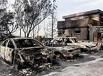 הנזקים לאחר השריפה ביישוב מבוא מודיעים