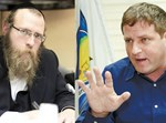 ראש העיר גרינברג וישראל פרידמן