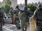 כוחות הביטחון באזור הפיגוע