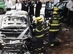 שריפת רכבים בגבעת שאול בי-ם