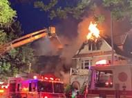 בית הרב עולה באש