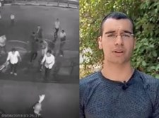 מרדכי דוד בראיון לצד התיעוד ממצלמות האבטחה
