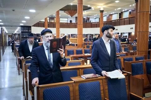 כינוס תורה וסיום מסכת בבית הכנסת המרכזי במוסקבה