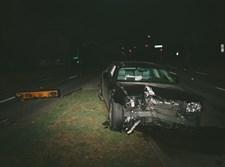 רכב הרוס לאחר תאונה. אילוסרציה