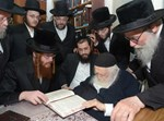 """הרבי מקאליב בביקור בבתי גדולי ישראל בב""""ב"""