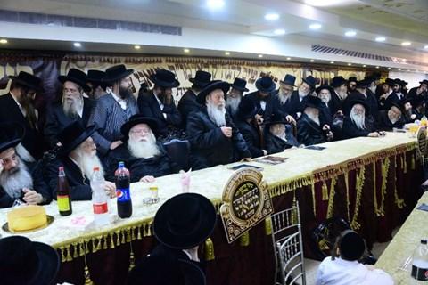 קבלת פנים לרבי מצאנז גריבוב בירושלים