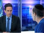 יענקי פרבר עם המגיש אלמוג בוקר ב'ערוץ 13'