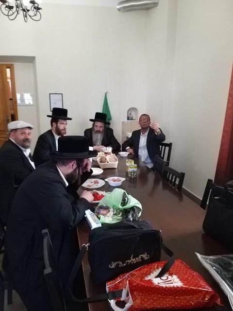 הרבי מזוטשקא אמסנא במסע לפולין