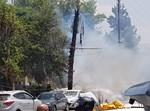 השריפה שנגרמה כתוצאה מהכבל השרוף