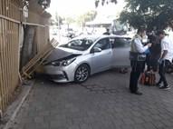 הרכב לאחר התאונה, הבוקר