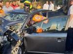 חילוץ נהג שנלכד לאחר תאונה בכניסה לטלזסטון