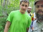 שמואל רבינוביץ לאחר הימצאו ביער