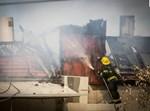 """השריפה אתמול. צילום: דוברות זק""""א"""