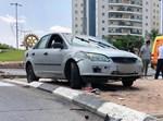 רכב עלה על מדרכה בקרית גת ופגע במשפחה