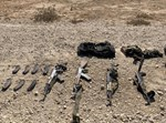 הנשק שהיה בידי המחבלים