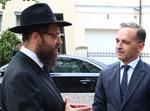 שר החוץ הגרמני עם הרב יהודה טייכטל