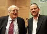 """עו""""ד אברהם יוסטמן עם השופט חנן מלצר"""