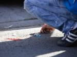 מוצץ של תינוק שנפצע בתאונה על הכביש
