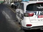 ניידת משטרה שנפגעה בתאונה
