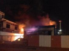 שריפה במחסן כלי רכב באשדוד
