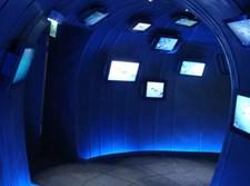 הדמיית צינור במרכז המבקרים